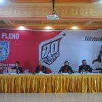Rapat pleno PP Perbasi di Robinson Resort, Cisarua, Bogor, Sabtu (23/10).
